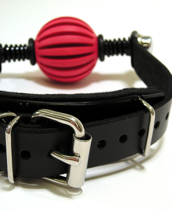 "The ""Get-A-Grip"" Ball Gag. (deluxe with flush ends)"