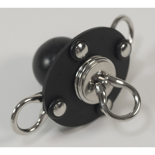 Ball Gag with Tear Drop Swivel Eye.
